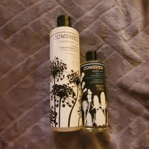 Cowshed shower gel and body oil